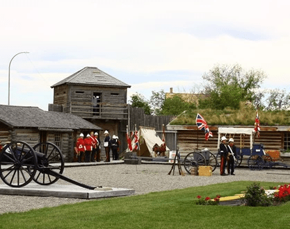 Museum of the NWMP - Fort Macleod was founded in 1874 with the arrival of the North West Mounted Police, led by Colonel James F. Macleod.